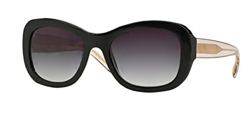 - Burberry BE4189 35078G Black 4189 Oval Sunglasses Lens Category 3 Size 54mm