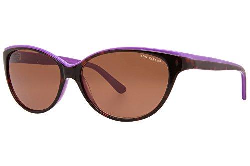 Ann Taylor AT505 Sunglasses - Frame Tortoise/Burgundy, Size - Sunglasses Taylor Ann