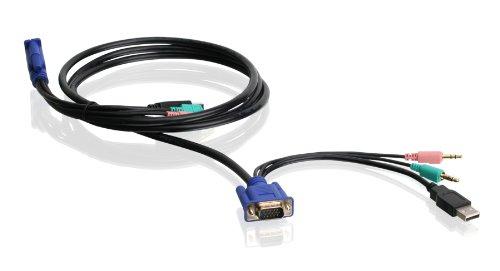 Iogear VGA USB Audio/Mic KVM Cable, 6 Feet, G2L5102U