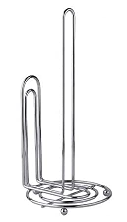 Ba Hoki Essentials Metal Paper Towel Holder For Contemporary Kitchen   Accommodates All Roll Sizes (Chrome) by Ba Hoki Essentials