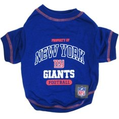 - NEW YORK GIANTS Dog T-Shirt, Small. - Cutest Pet Tee Shirt for the real sporty pup