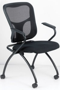 Eurotech Flip - Office Nesting Chair With Arms-NT5000ARM-BLK