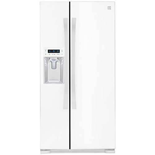 Kenmore Elite 51822 21.9 cu. ft. Wide Side-by-Side Refrigerator with Dispenser in White