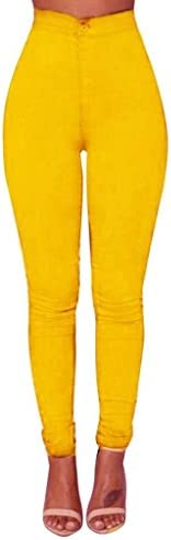 Denim Jeans, morecome Fashion Mujer Chica Casual Jeans Pantalones, Amarillo