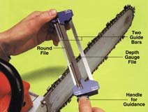 Chain Sharp Dual Sharpening Tool, For Use With Low Profile 3/8 Inch Chain, ()