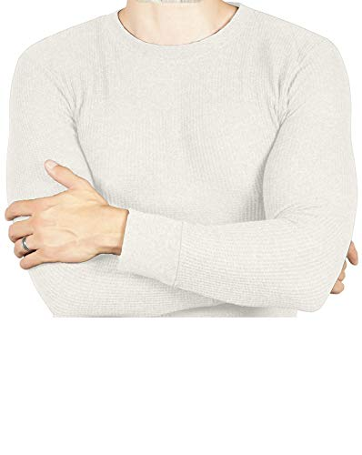 Joe Boxer Thermal Crew Tops - Base Layer Shirt - Long Sleeve Undershirt (Off White, - Lightweight Crew Thermal