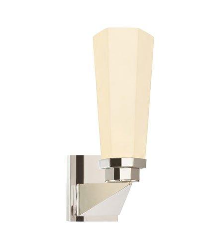 Sonneman 1845.35, Forma Glass Wall Sconce Lighting, 1 Light, 65 Total Watts, Polished Nickel