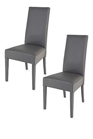 Tommychairs sillas de Elegancia y Design - Set de 2 Sillas Luisa para Cocina, Comedor, Bar y Restaurante con Estructura en Madera de Haya y Asiento ...