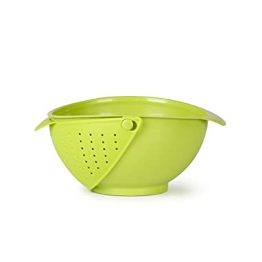 Umbra Rinse Bowl and Strainer, Avocado