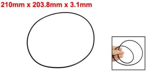 uxcell Nitrile Rubber O-Rings 210mm OD 203.8mm ID 3.1mm Width Metric Buna-N Sealing Gasket Pack of 1