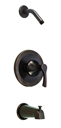 Danze D510022LSBRT - Antioch 1H Tub & Shower Trim Kit w/ Diverter on Spout Less Showerhead Tumbled Bronze