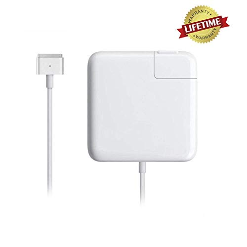 Mac Book Pro Charger, AC 85w Power Adapter Magsafe 2 T-Tip Adapter Charger Connector - Superior Heat Control - MacBook Pro 17/15/13 Inch [After Mid 2012] (White)