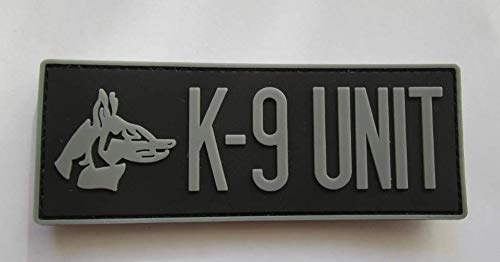 K-9 Unit Military PVC Patch Rubber Badges Patch Tactical Stickers for Clothes Back with Hook (color2) ()