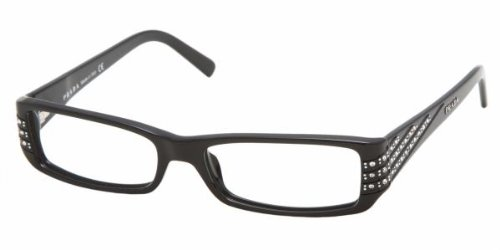 Prada PR 07 LV (1AB1O1) GLOSS BLACK DEMO LENS 52mm 15mm