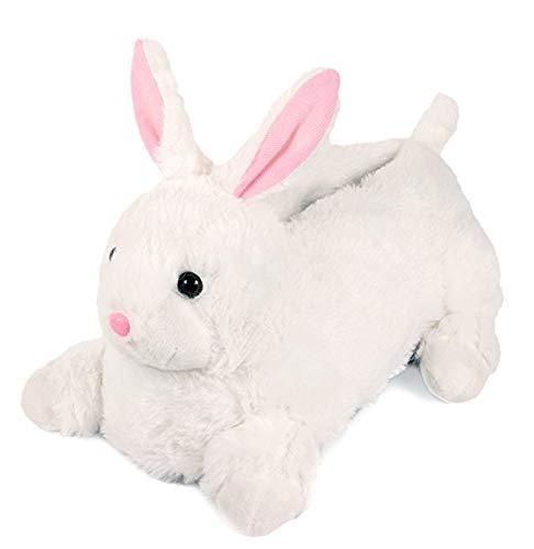 Lazy Paws Adult Sized Animal Slippers - Size Medium Only (Medium, Bunny Rabbit 2) -