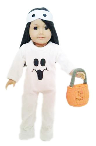 [HALLOWEEN GHOST COSTUME FOR AMERICAN GIRL DOLLS-18 INCH DOLL CLOTHES] (Doll Outfits Halloween)