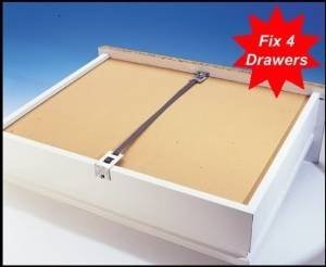 Fix a Drawer kit (x4 pack) Repair broken drawers quickly & easily, reinforce / strengthen drawers, mend broken drawers (Dresser Repair Kits compare prices)