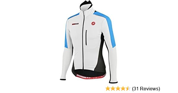 Amazon.com   Castelli Mens Trasparente Due Wind FZ Long Sleeve Cycling  Jersey - A12506 (white black cyan - S)   Sports   Outdoors e88fec236