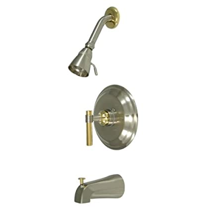 Polished Chrome Kingston Brass KB2631ML Milano Tub and Shower Faucet Milano Handle
