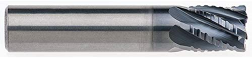 Round Shank Type RedLine Tools 6 Flute .5000 LOC .0300 Radius AlCrN Coated RFX1304 3//8 .3750 Single End Corner Radius Carbide End Mill 2.0000 OAL