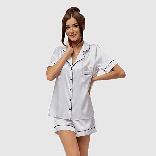 Personalized Pajama Rose Woman Personalized Short Pajama Set Bridesmaid Pajama