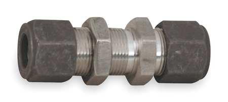 Parker Hannifin 4 4 Wbz Ss Cpi Stainless Steel Bulkhead Union Tube Fitting  1 4  Single Ferrule Tube Fitting X 1 4  Single Ferrule Tube Fitting