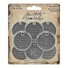 Tim Holtz Halloween Idea-Ology, Quote Tokens]()