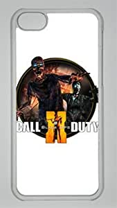 Call of Duty Black Ops 2 Dock Icon Zombie Custom PC Transparent Case for iPhone 5C by icasepersonalized