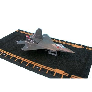 Hot Wings F-22 Raptor (military markings) with Connectible Runway (F 22 Raptor Toy)