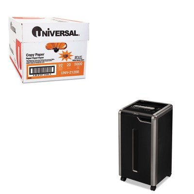 KITFEL3831001UNV21200 - Value Kit - Fellowes Powershred 325Ci Continuous-Duty Cross-Cut Shredder (FEL3831001) and Universal Copy Paper (UNV21200)