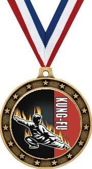 Arts Medal Martial Gold - Crown Awards Gold Kung Fu Martial Arts Medals - 2.5