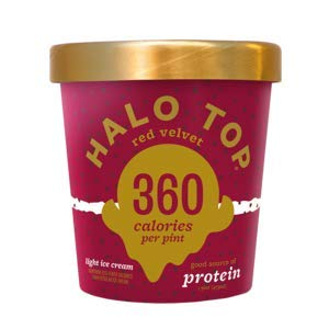 Halo Top, Red Velvet Ice Cream, Pint (4 Count) (Best Halo Top Ice Cream)