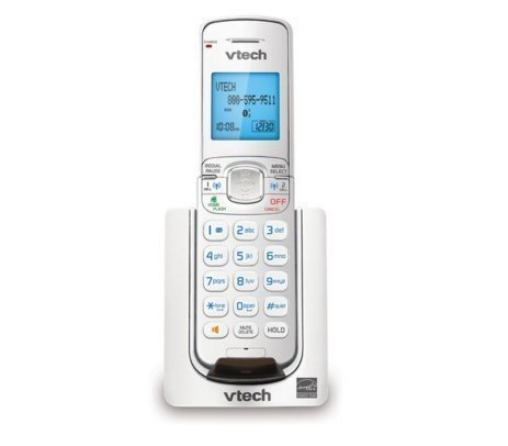 VTech DS6071-17 Accessory Cordless Handset for VTech DS667X Series Cordless Phone Systems, White (Cordless Telephone White)