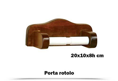 SANTANASHOP Kit Bagno Country 2 Portasalviette Portarotolo Porta Spazzolini Dispenser