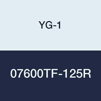 4 Flute YG:Tylon F Finish 4 Length 1 YG-1 07600TF-125R Carbide Corner Radius End Mill Regular Length
