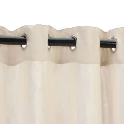 Sunbrella Outdoor Sheer with Nickel Grommets-Illusion Sand 50x96 by Sunbrella (Image #2)