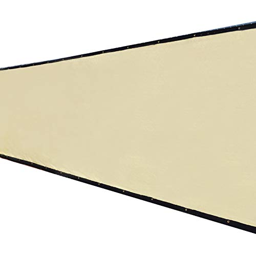 4'x50' 4ft Tall 3rd Gen Tan Beige Fence Privacy Screen Windscreen Shade Cover Mesh Fabric (Aluminum Grommets) Home, Court, or Construction