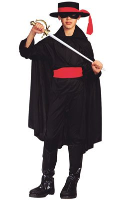 RG Costumes Bandit Costume, Black/Red, -