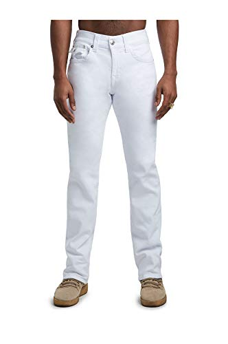 True Religion Men's Ricky Straight Leg Jeans, Optic White, 34