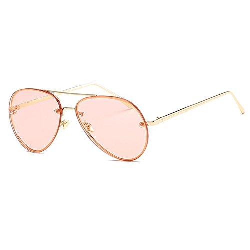 largeur pink JUNDASI soleil Lunettes de métallique des 62 Hommes soleil surdimensionnée millimete Lunettes aviateur Femmes monture de verres rffqB7T4