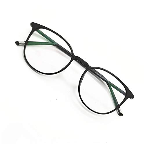 Reading Glasses Round Computer Readers for Women Men Eyeglasses Frames for Prescription Lens (A. Black, 2.00)