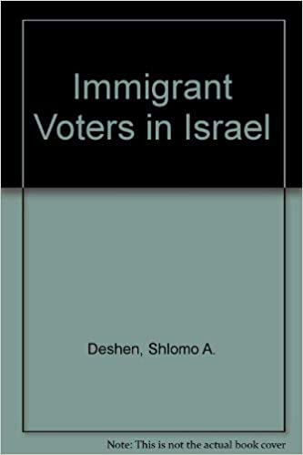 Image result for Immigrant Voters in Israel: Parties and Congregations in a Local Election Campaign. Shlomo A. Deshen
