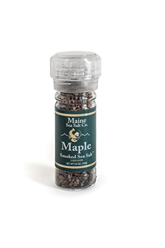Maine Sea Salt - Maple Smoked Sea Salt and Grinder - 3.6 Ounce