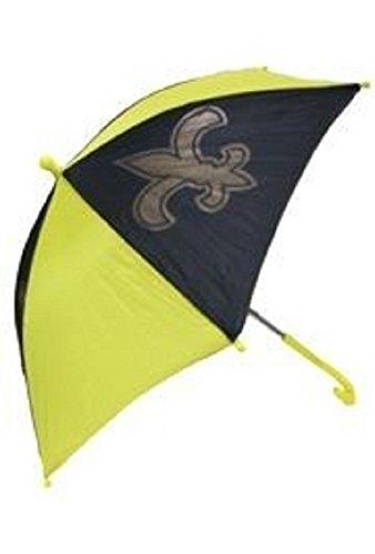 14in Black/ Gold Nylon Umbrella w/ Fleur-De-Lis Design, GREAT FOR NEW ORLEANS SAINTS FANS ()