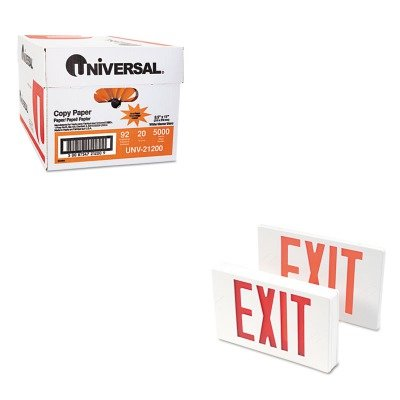 - KITTCO07230UNV21200 - Value Kit - Tatco LED Exit Sign (TCO07230) and Universal Copy Paper (UNV21200)