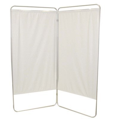 Fabrication Enterprises Standard 2-Panel Privacy Screen folded,Green by Fab Enterprises