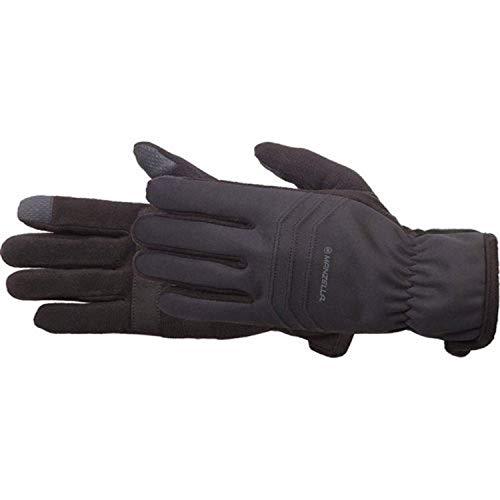 Manzella Men's Hybrid Ultra TouchTip Glove Black M/L & Headband Bundle