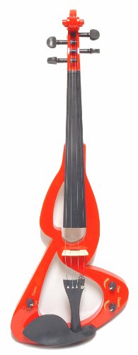 ViolinSmart EV20 Electric Violin (4/4 Full Size, Color: Red) by Crescent