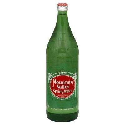 Mountain Valley Spring Water Glass Bottle 33.8 Ounces (Pack of 12) - Mountain Spring Water
