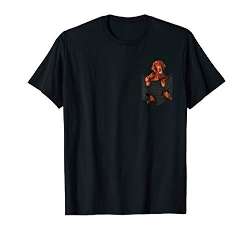 - Dog in Your Pocket Irish Setter t shirt tee shirt